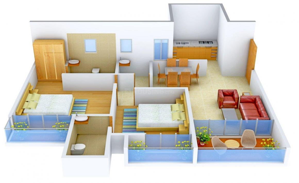 Floor Plan Image of 0 - 814.0 Sq.ft 2 BHK Apartment for buy in Antarkish