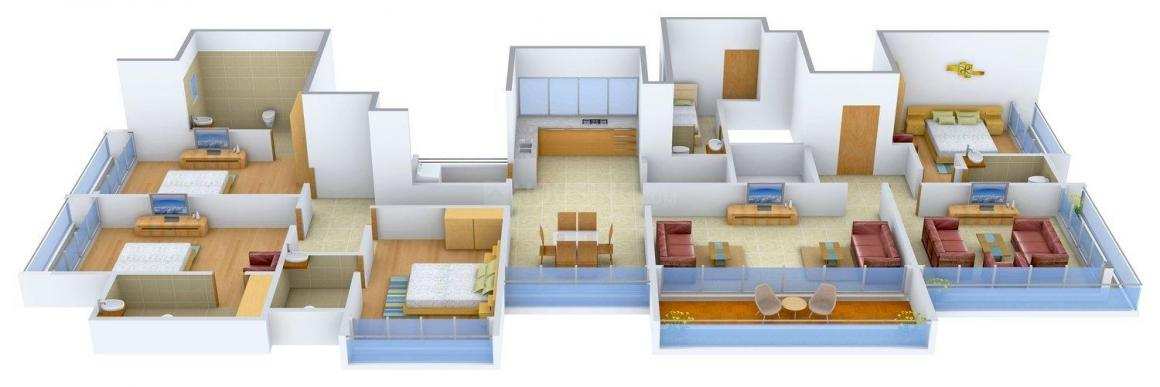 Sankalp Sapphire Floor Plan: 4 BHK Unit with Built up area of 3800 sq.ft 1