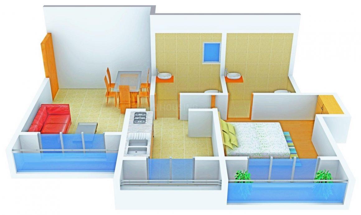 Floor Plan Image of 635.0 - 1205.0 Sq.ft 1 BHK Apartment for buy in Ganesh Residency