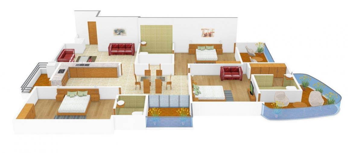 Floor Plan Image of 0 - 1930.0 Sq.ft 3 BHK Independent Floor for buy in Akansha Opulence