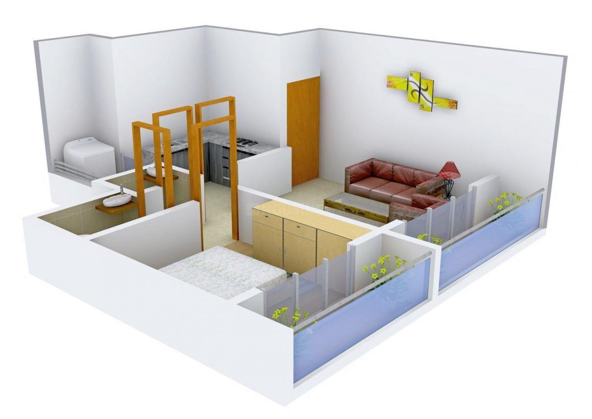 Floor Plan Image of 560.0 - 610.0 Sq.ft 1 BHK Apartment for buy in Shree Ramtanu Sneh