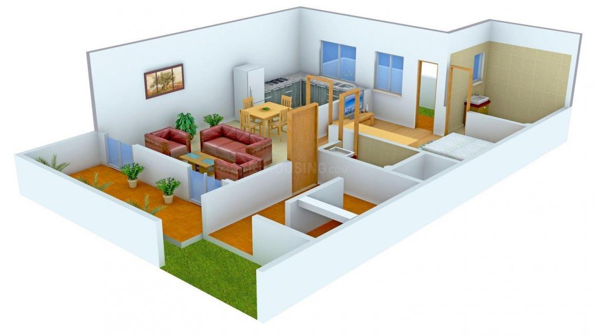 Sunrise Andman City Villa Floor Plan: 1 BHK Unit with Built up area of 1100 sq.ft 1