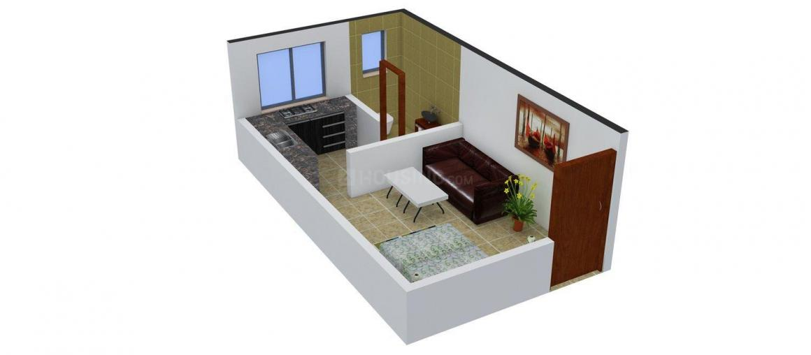 Deeksha Tulsi Apartments Floor Plan: 1 BHK Unit with Built up area of 350 sq.ft 1