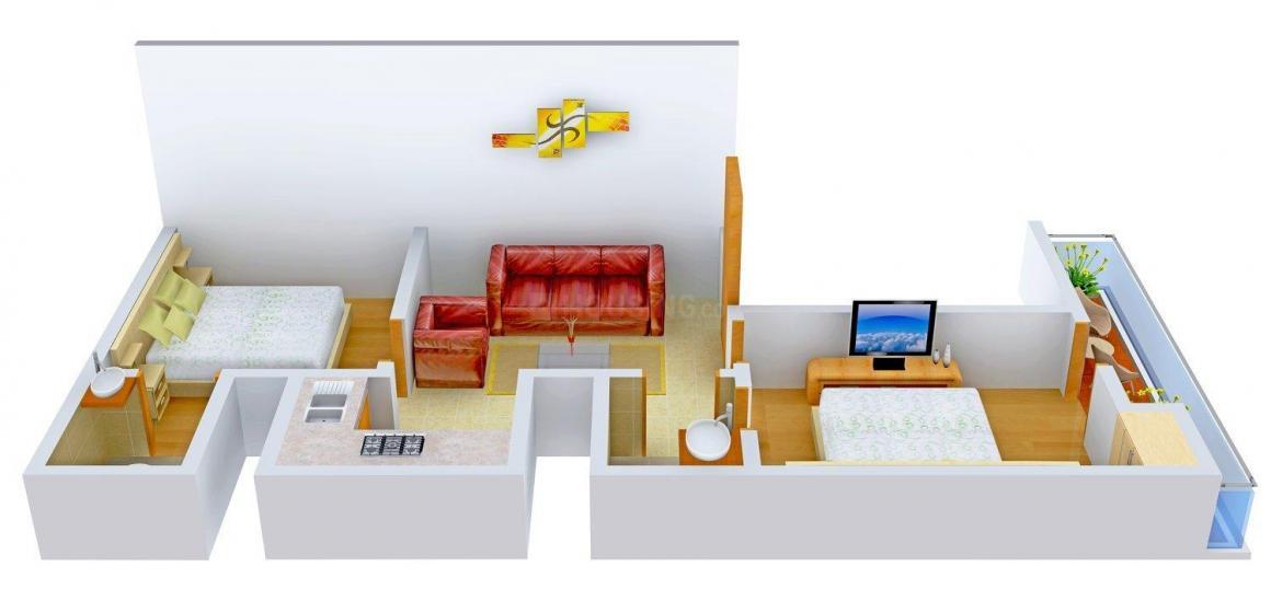 Floor Plan Image of 750.0 - 900.0 Sq.ft 2 BHK Independent Floor for buy in Madhav Homz - 1
