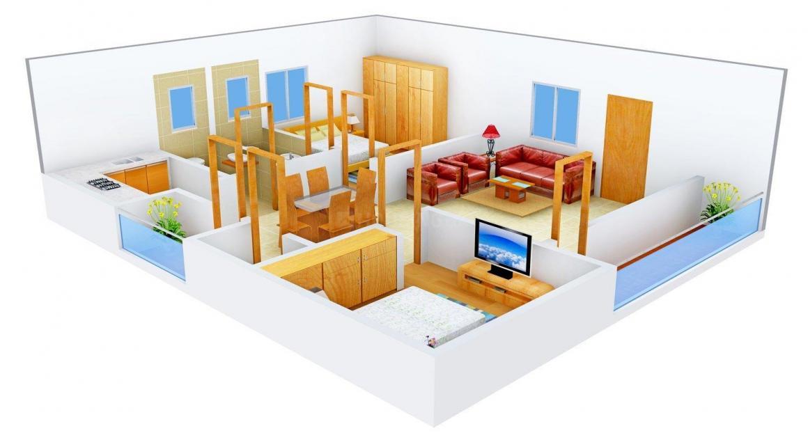 Floor Plan Image of 0 - 1176 Sq.ft 2 BHK Apartment for buy in SSV Divya Ram Residency