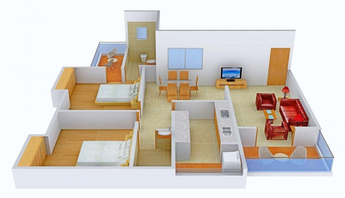 Floor Plan Image of 1420 - 4325 Sq.ft 2 BHK Apartment for buy in Presidency Flora