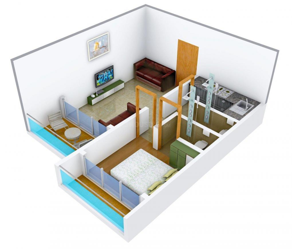 Floor Plan Image of 645 - 900 Sq.ft 1 BHK Apartment for buy in Shree Balaji Anmol Palace