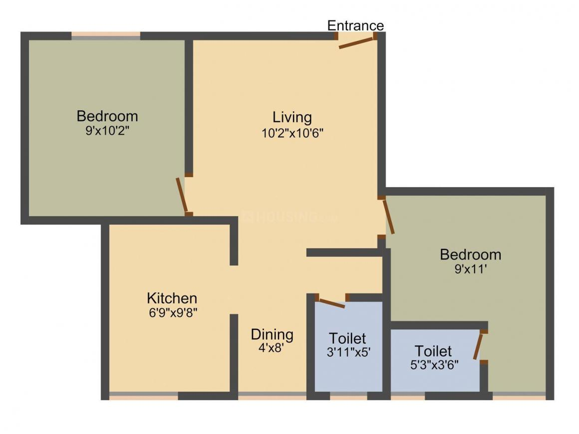 Floor Plan Image of 675 - 1624 Sq.ft 1 BHK Apartment for buy in SB SS Apoorva