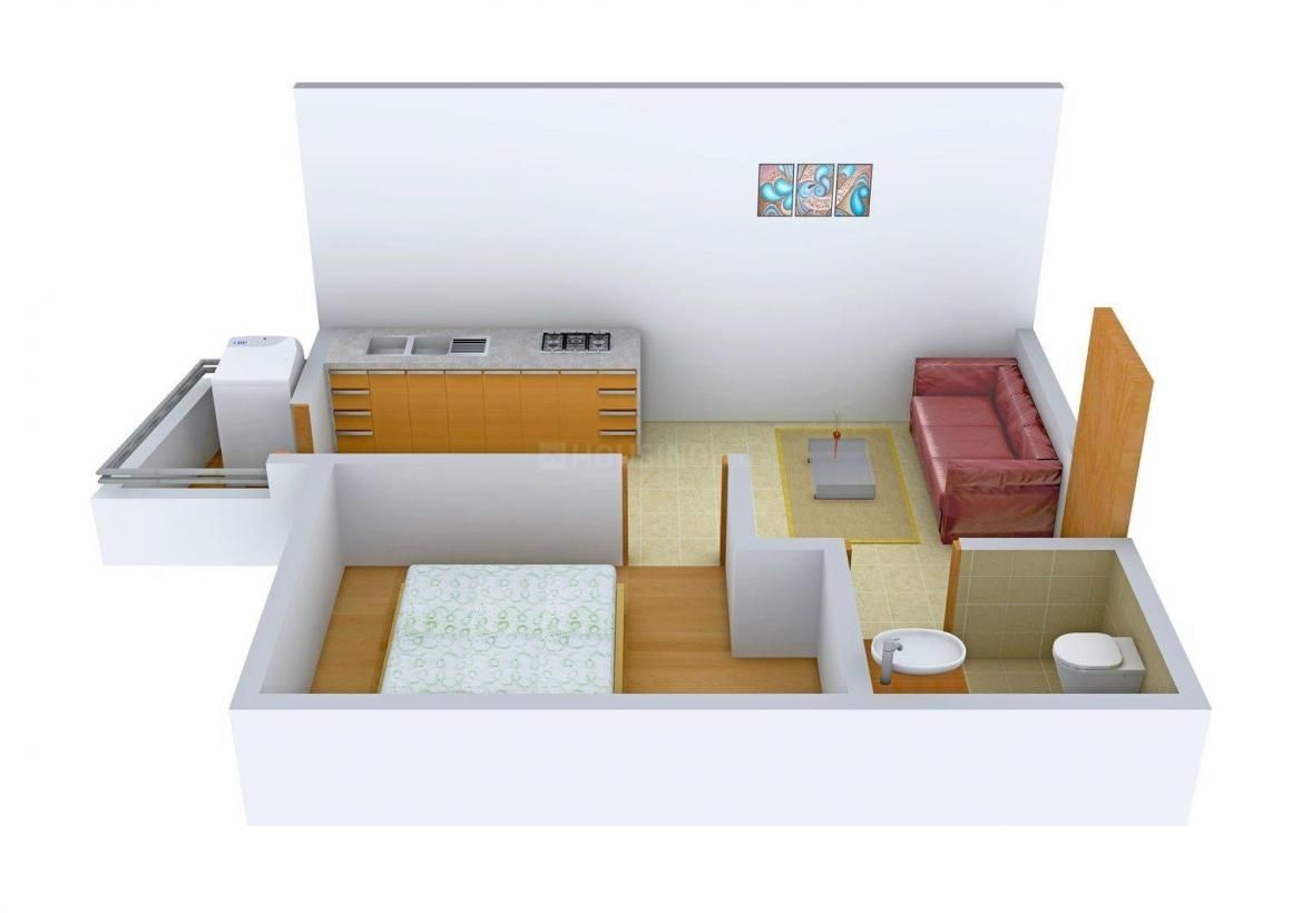 Floor Plan Image of 490 - 1370 Sq.ft Studio Studio Apartment for buy in Westline Splendid Homes