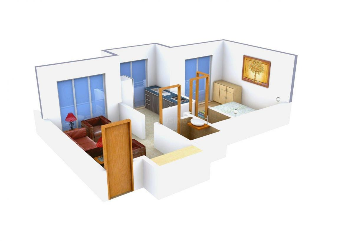 Floor Plan Image of 650.0 - 1000.0 Sq.ft 1 BHK Apartment for buy in Sadguru Heritage