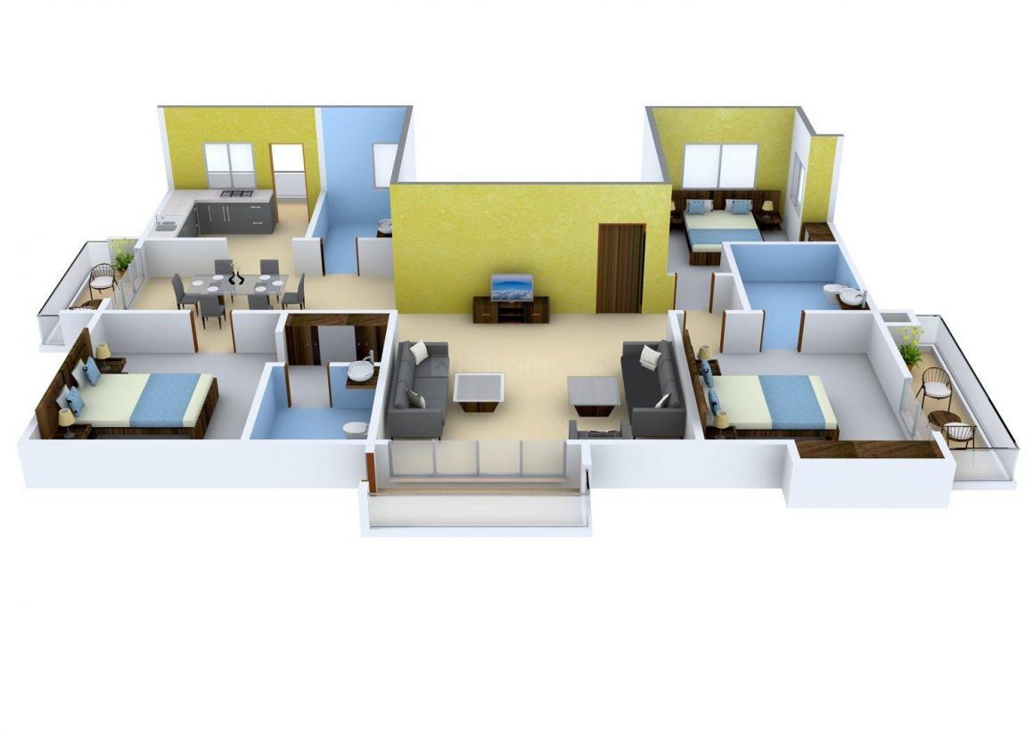Floor Plan Image of 2470.0 - 2495.0 Sq.ft 3 BHK Apartment for buy in Devinarayan Sree Sarada Nivas