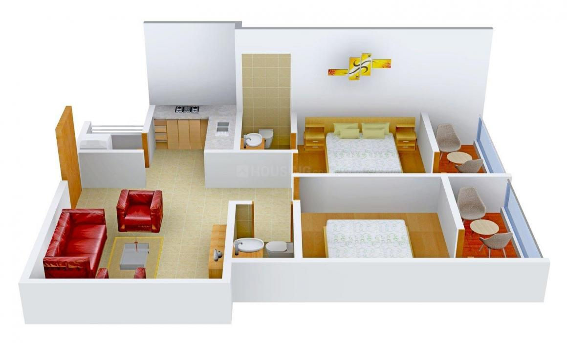 Floor Plan Image of 816 - 1136 Sq.ft 2 BHK Apartment for buy in Surath Silver Stars