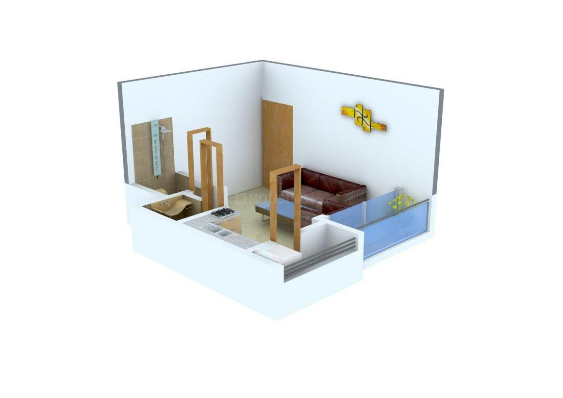 Bhagat Park Floor Plan: 1 BHK Unit with Built up area of 450 sq.ft 1