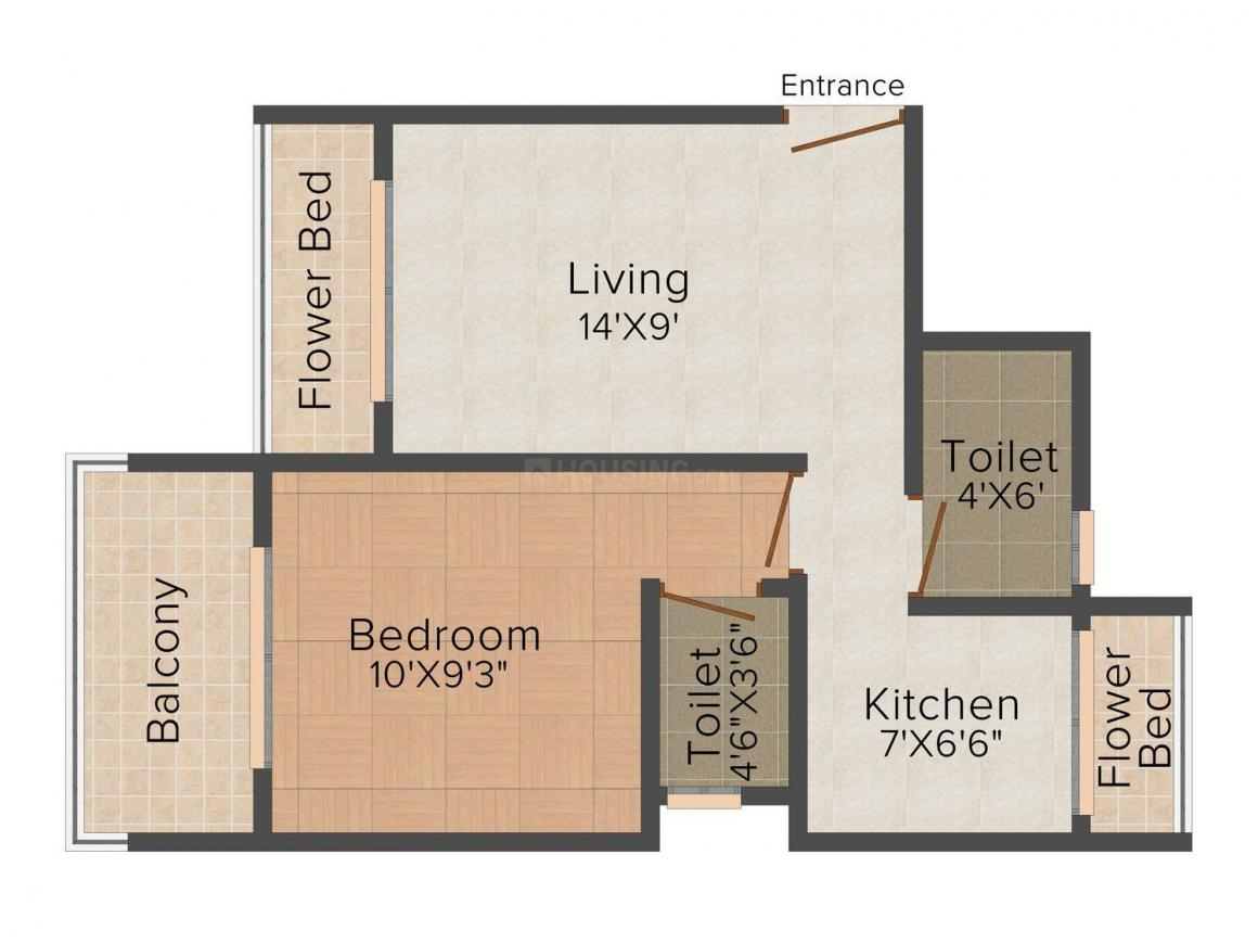 Floor Plan Image of 0 - 630 Sq.ft 1 BHK Apartment for buy in Jayveer Palace