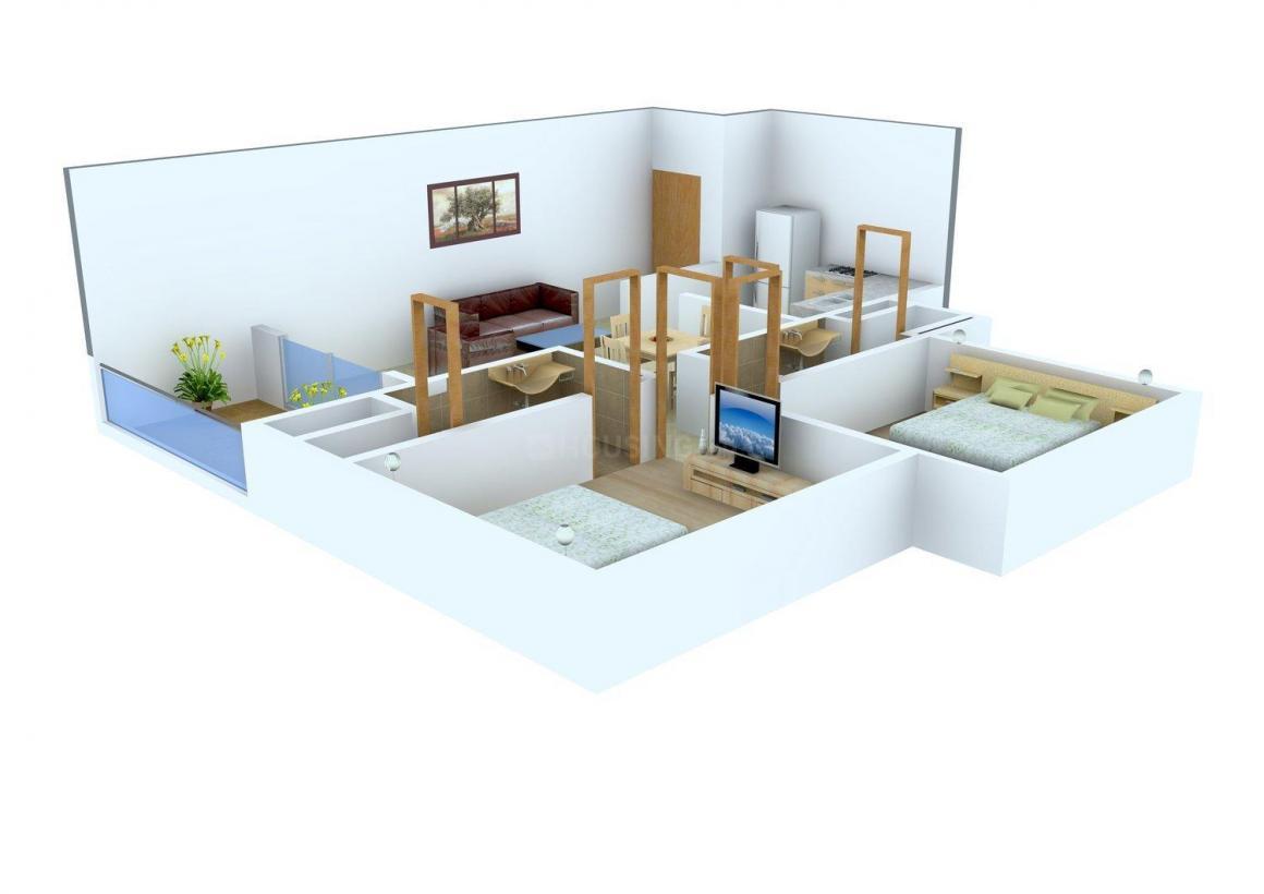 Floor Plan Image of 805.0 - 1041.0 Sq.ft 2 BHK Apartment for buy in Tharwani Rosa Bella