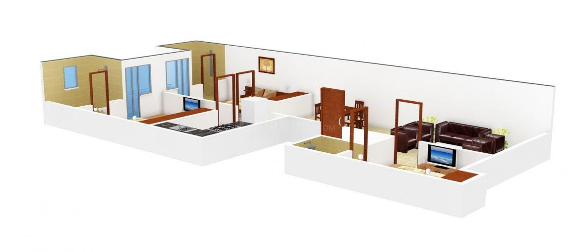 AGS Buildhomes V Floor Plan: 3 BHK Unit with Built up area of 1350 sq.ft 1