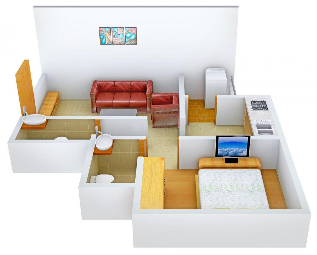 Floor Plan Image of 610 - 950 Sq.ft 1 BHK Apartment for buy in RJ New Royal Homes