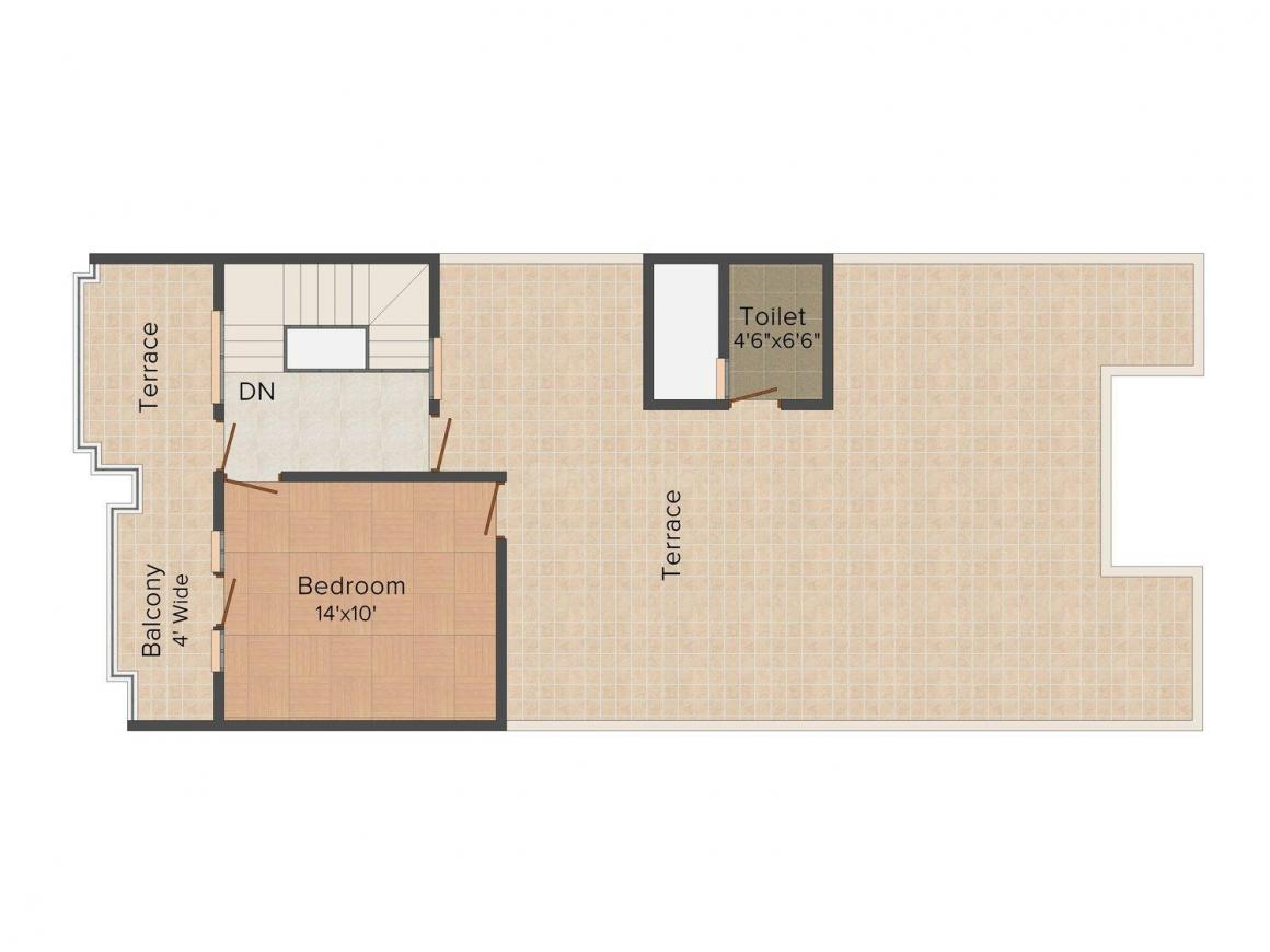 Floor Plan Image of 0 - 2200.0 Sq.ft 3 BHK Row House for buy in Green Paradise