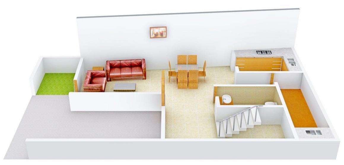Floor Plan Image of 2052 - 2743 Sq.ft 4 BHK Row House for buy in HK Sunshine Castle 1