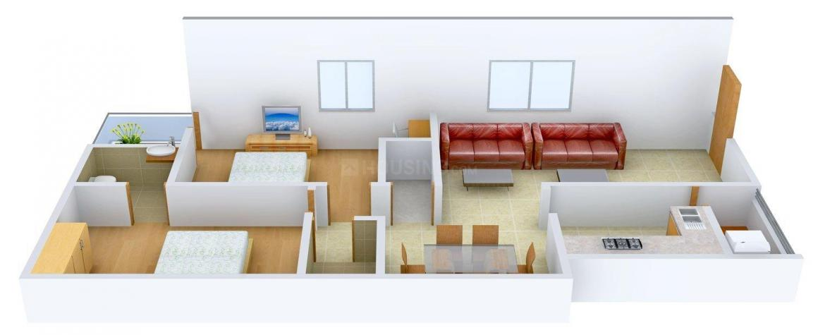 Floor Plan Image of 936.0 - 1308.0 Sq.ft 2.5 BHK Apartment for buy in Akruthi Elegant