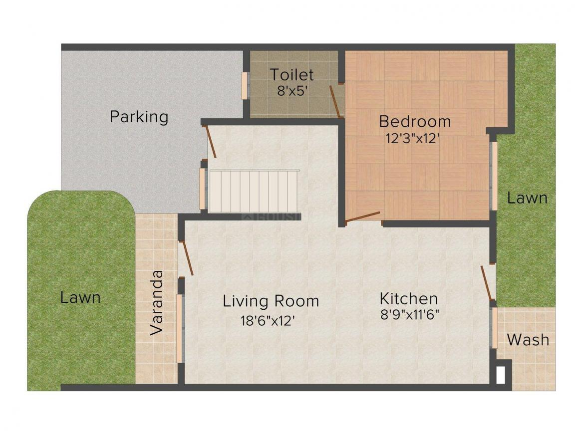 Floor Plan Image of 0 - 1550 Sq.ft 3 BHK Villa for buy in Manglam Angan prime the villa