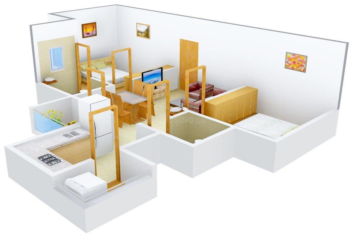 Floor Plan Image of 840 - 1056 Sq.ft 2 BHK Apartment for buy in Oceanus Green Valley
