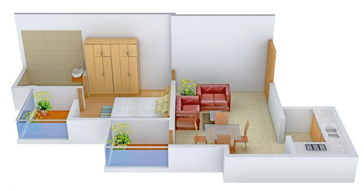 Floor Plan Image of 630.0 - 840.0 Sq.ft 1 BHK Apartment for buy in Prince Residency