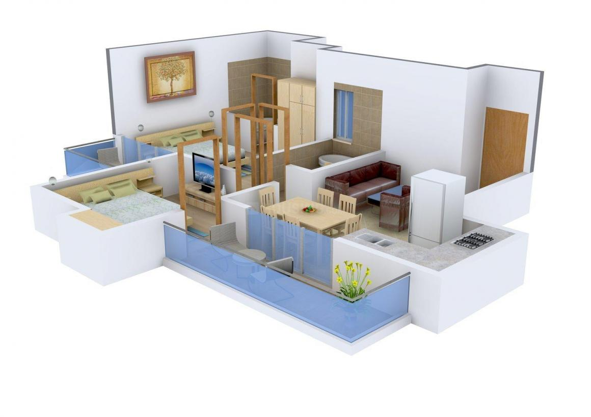 Floor Plan Image of 950 - 2300 Sq.ft 2 BHK Apartment for buy in Amrapali Zodiac