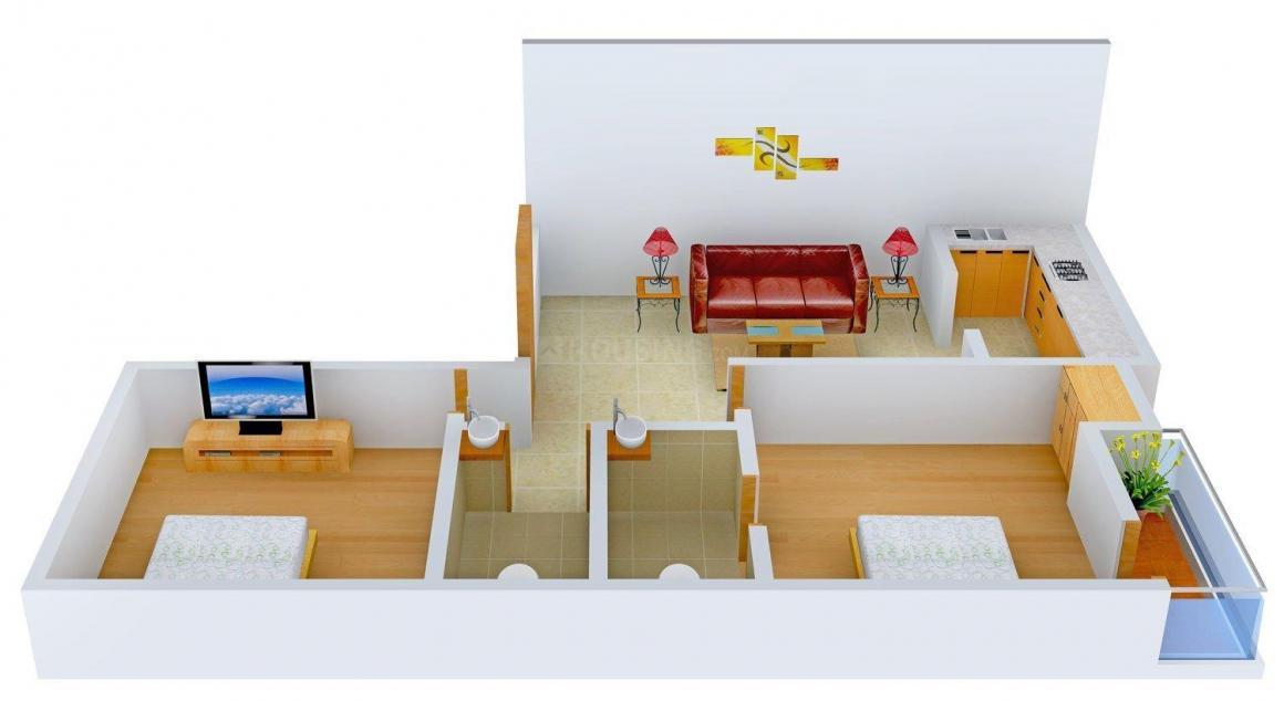 Floor Plan Image of 0 - 750.0 Sq.ft 2 BHK Independent Floor for buy in Maa Kalka Home-3