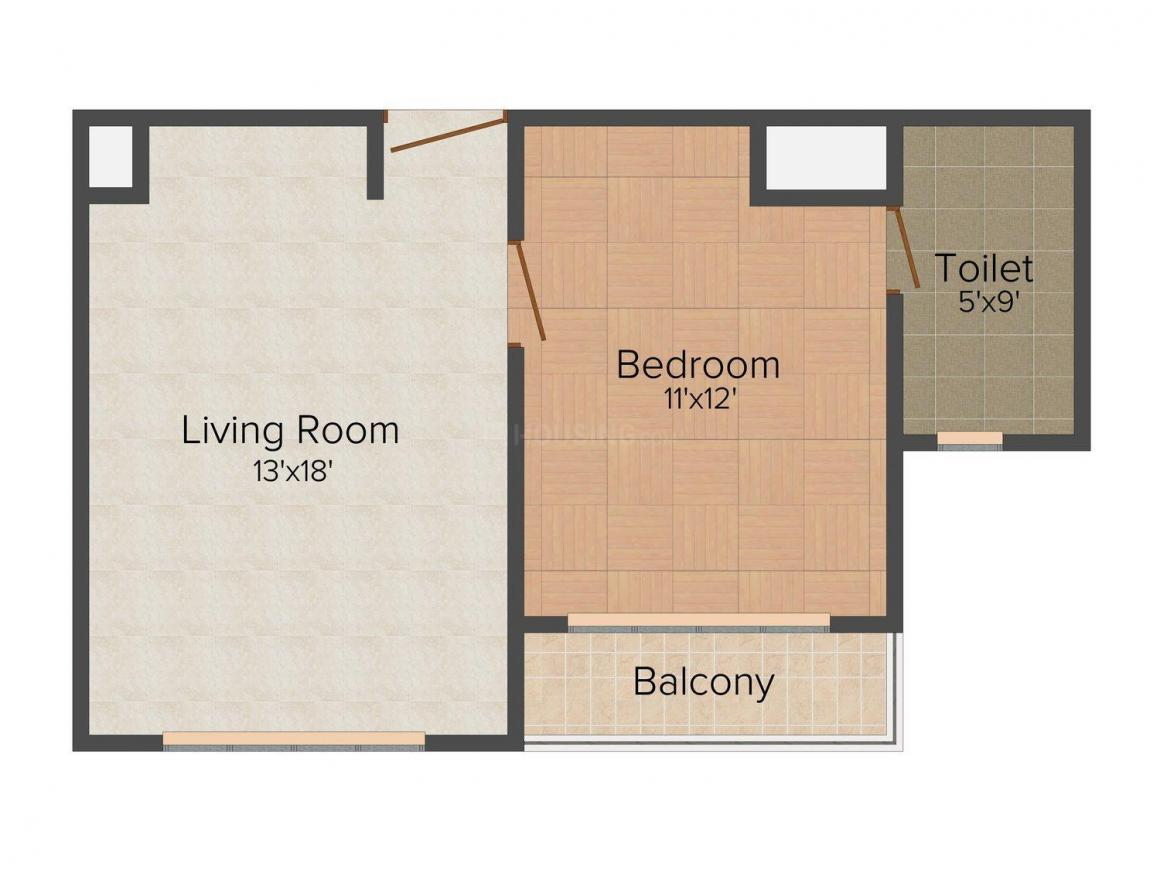 Floor Plan Image of 525.0 - 2287.0 Sq.ft 1 BHK Apartment for buy in Logix Neo World