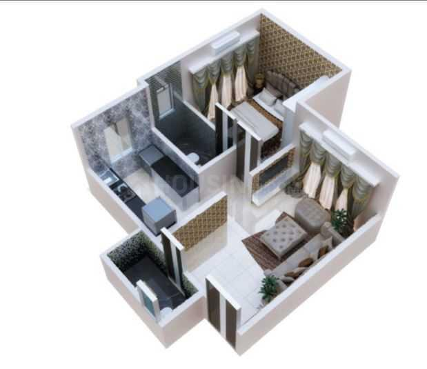 Alamdar Marine Palace Floor Plan: 1 BHK Unit with Built up area of 421 sq.ft 1