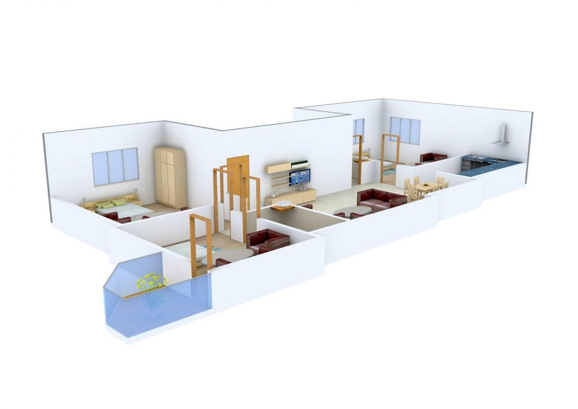 Floor Plan Image of 0 - 1100 Sq.ft 3 BHK Independent Floor for buy in Swastic Homes - 14