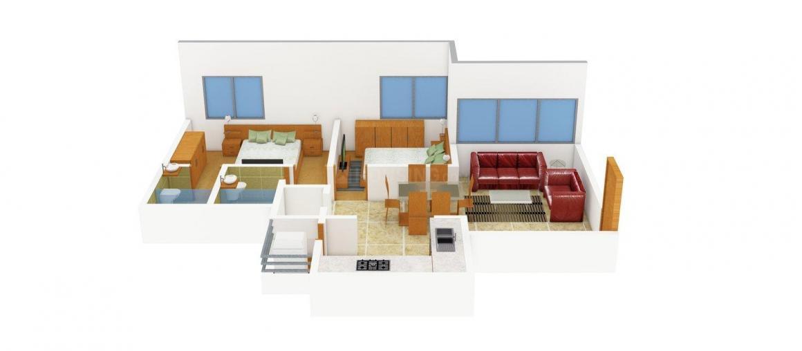 Sankalp Sandipani Floor Plan: 2 BHK Unit with Built up area of 1215 sq.ft 1