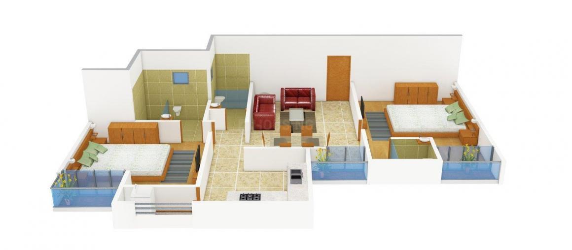 Floor Plan Image of 0 - 820 Sq.ft 2 BHK Apartment for buy in Kakaria Royal Lake City
