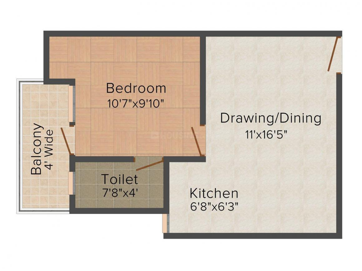 The Home Solutions Floors - 5 Floor Plan: 1 BHK Unit with Built up area of 540 sq.ft 1