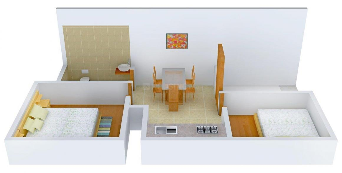 Floor Plan Image of 0 - 513 Sq.ft 2 BHK Row House for buy in Raj Independent 4