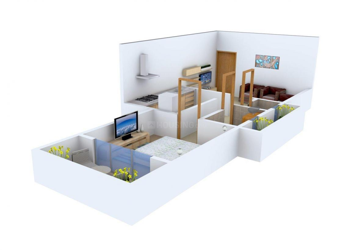 Floor Plan Image of 516 - 607 Sq.ft 1 BHK Apartment for buy in Ashiyana Lake View