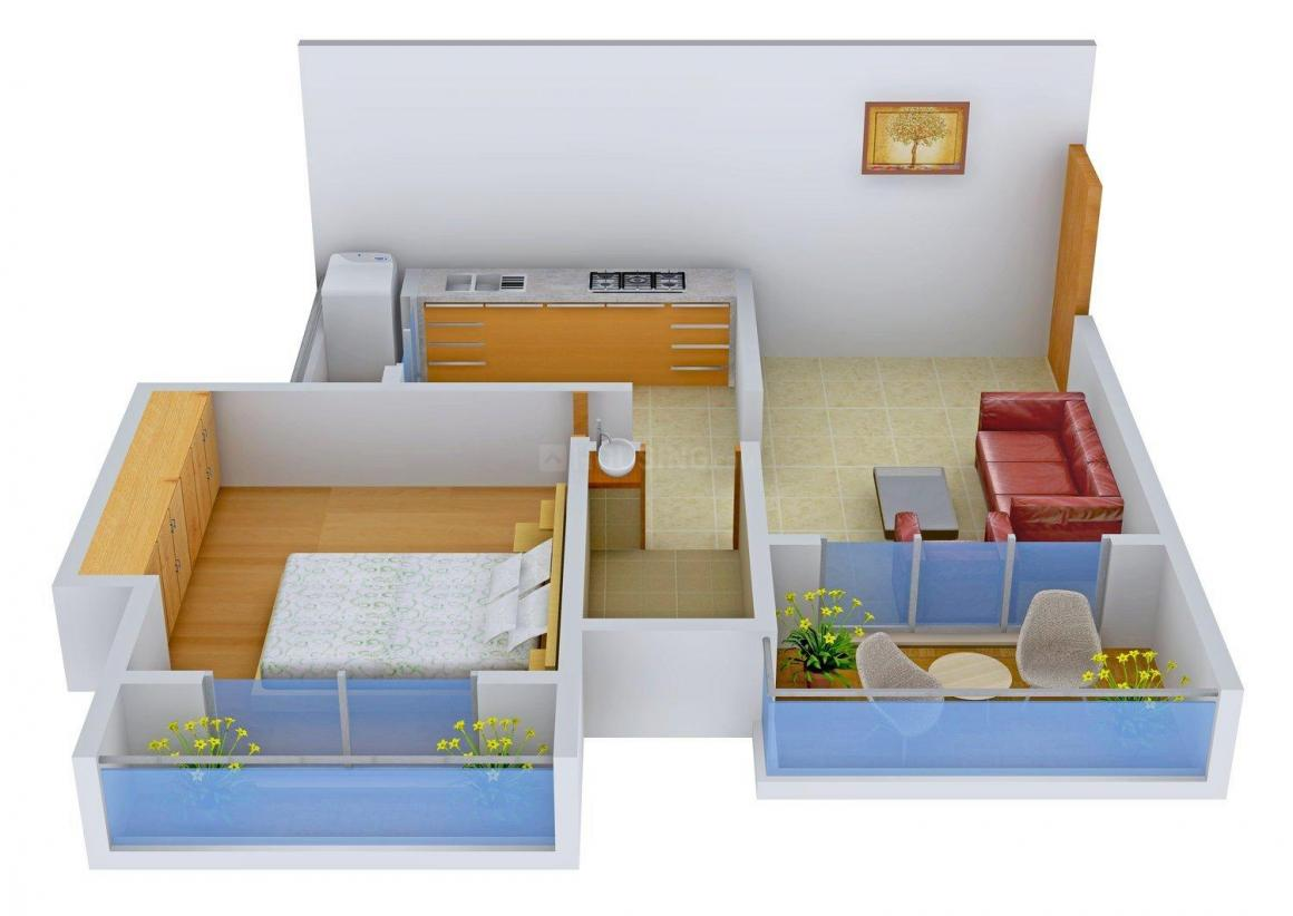 Floor Plan Image of 0 - 670.0 Sq.ft 1 BHK Apartment for buy in Shree Siddhivinayak Royal Park Phase - I