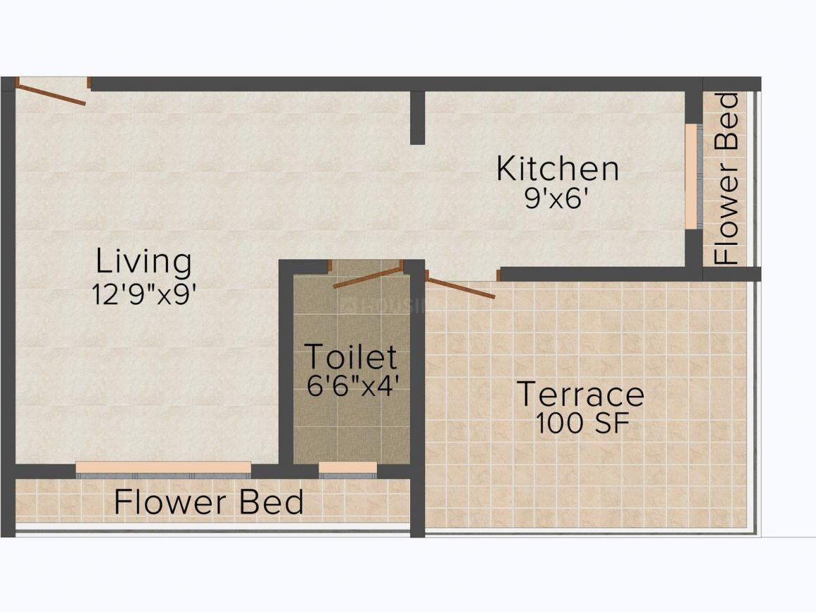 Floor Plan Image of 0 - 269.0 Sq.ft 1 RK Apartment for buy in Jainam Avenue
