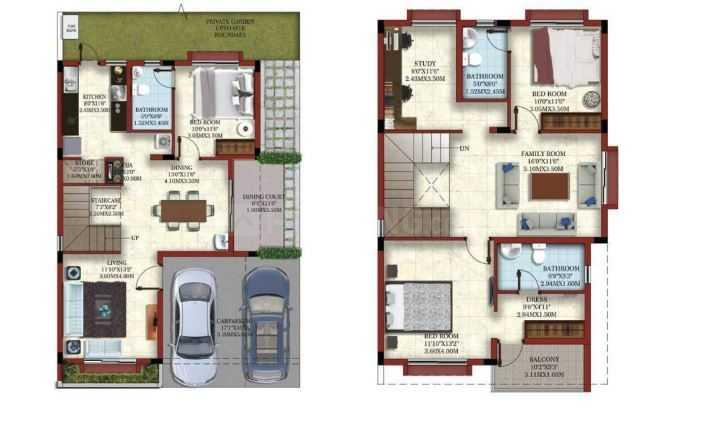Casagrand Eternia Floor Plan: 3 BHK Unit with Built up area of 1835 sq.ft 1