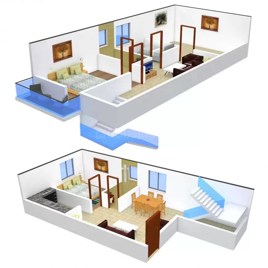 Steps Stone Sri Hari Floor Plan: 2 BHK Unit with Built up area of 1133 sq.ft 1