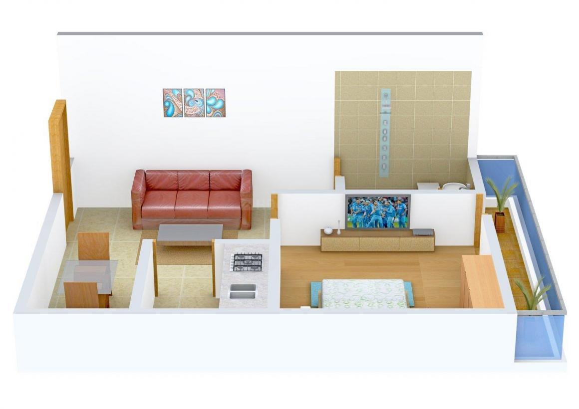Floor Plan Image of 0 - 450 Sq.ft 1 BHK Independent Floor for buy in Maaz Apartment - 2