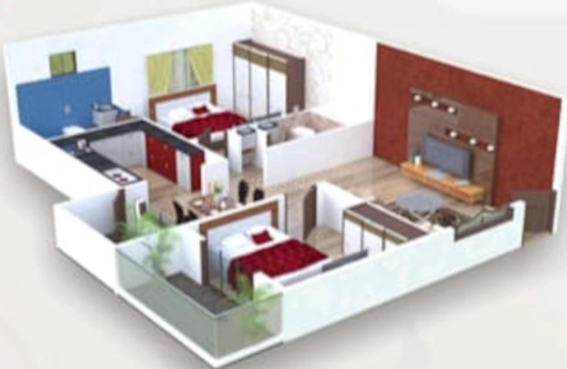 Sree Sai Brundavanam Residency Floor Plan: 3 BHK Unit with Built up area of 2250 sq.ft 1