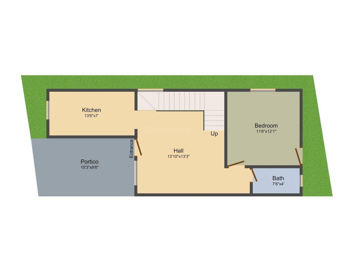 Floor Plan Image of 0 - 1980 Sq.ft 3 BHK Villa for buy in Dharshini Avenue