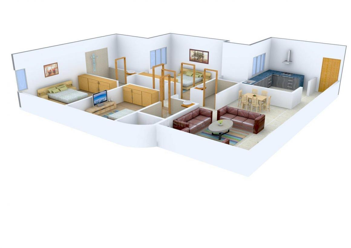 Floor Plan Image of 1130.86 - 3802 Sq.ft 3 BHK Apartment for buy in Neelkanth Regent Building 3 Wing A and Wing B