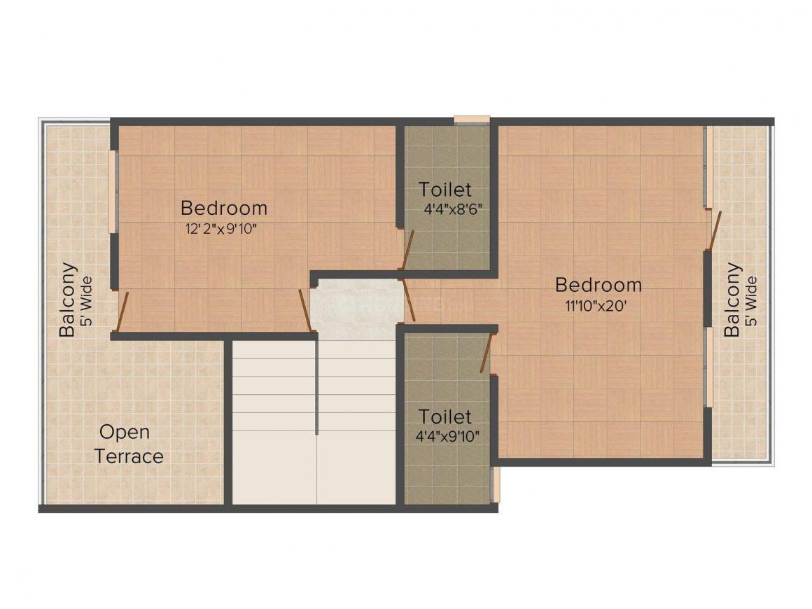 Floor Plan Image of 0 - 1596.0 Sq.ft 3 BHK Villa for buy in Cityscape Lilac Villas