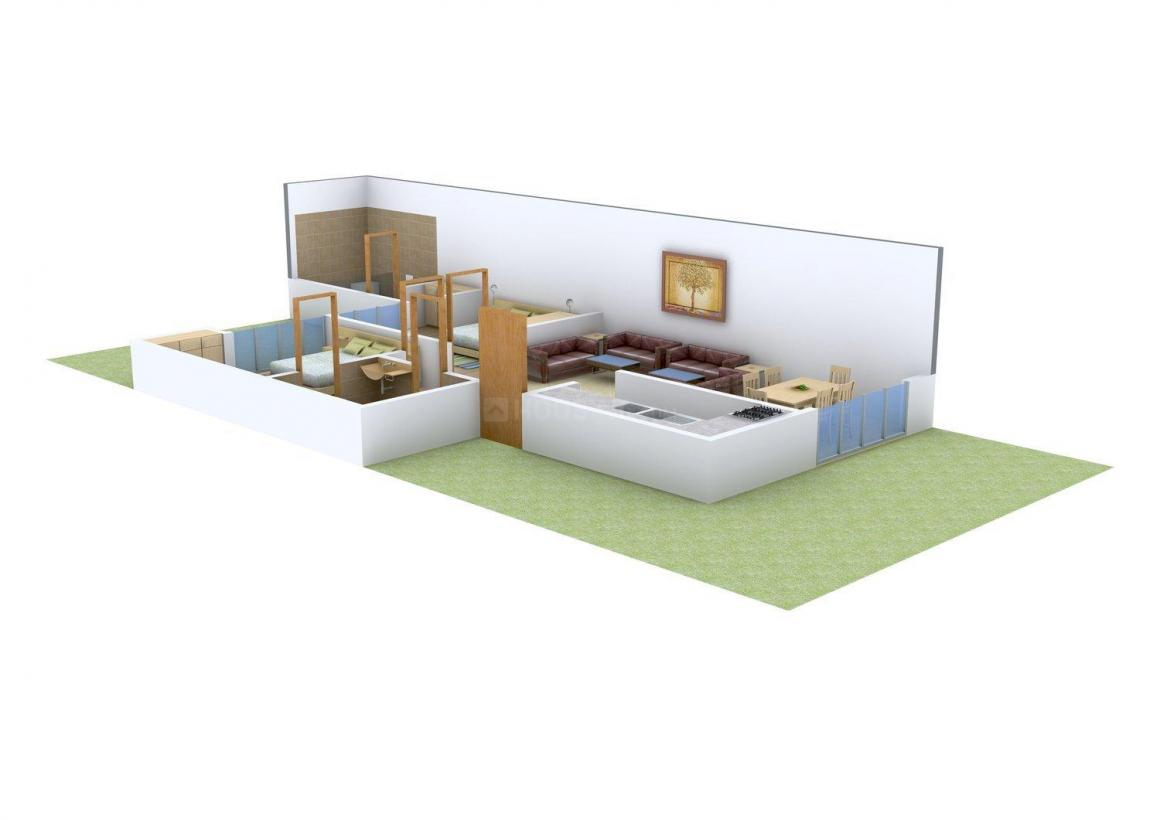 Floor Plan Image of 0 - 880 Sq.ft 2 BHK Independent Floor for buy in Creative Homes 2