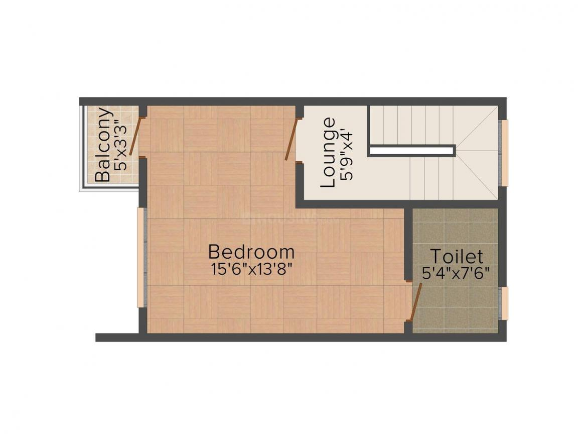 Floor Plan Image of 685 - 1555 Sq.ft 1 BHK Villa for buy in Shriram One City