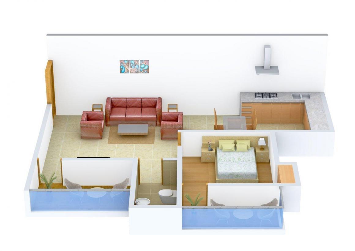 Floor Plan Image of 684 - 1043 Sq.ft 1 BHK Apartment for buy in Faith-Build Udyog Kaushalya