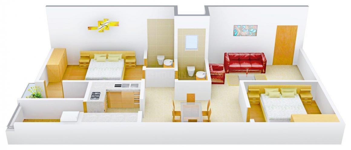 Floor Plan Image of 1150.0 - 2465.0 Sq.ft 2 BHK Apartment for buy in Raja Rajeswari Naik's Golden Towers
